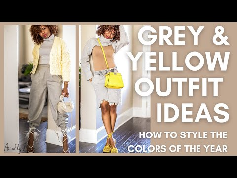 OUTFIT INSPIRATION: HOW TO STYLE GREY AND YELLOW FOR SPRING - YouTube