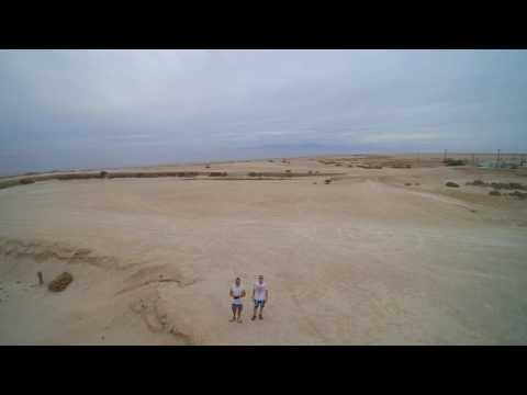 Ørkenblogg Salton Sea 4K. Gray day in the desert.