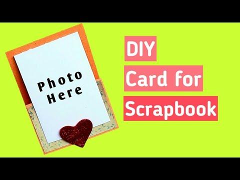 DIY Card for Scrapbook   Easy Folder Card  
