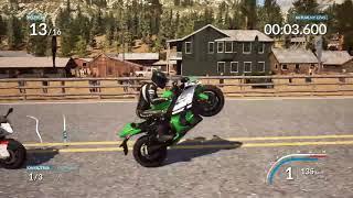 Film o tym jak wywalam sie na motorze w grze