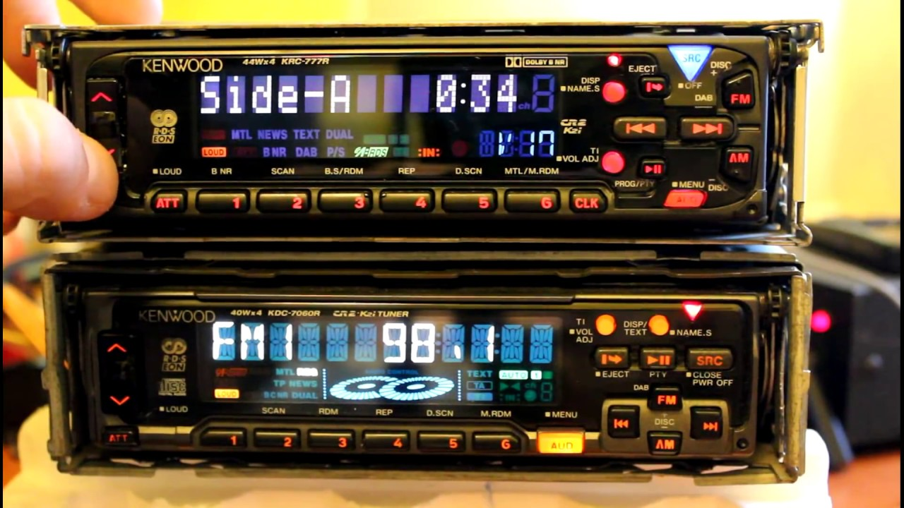 Kenwood Krc-777r Cassette  U0026 Kdc-7060r Cd Player Car Stereo