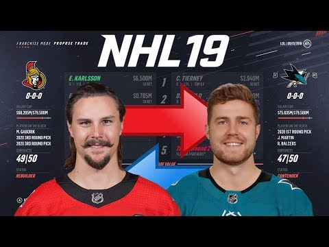 NHL 19 - ERIK KARLSSON TO SAN JOSE TRADE SIMULATION