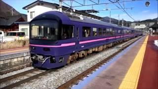 485系お座敷電車「華」団体列車で長野駅へ、回送で長野総合車両センターにてE351系と出会う。