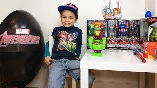 OEUF Surprise GEANT AVENGERS Marvel Disney - CAPTAIN AMERICA - IRON MAN - HULK