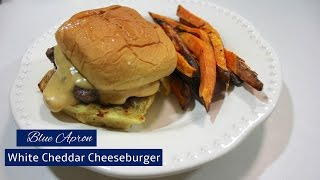 White Cheddar Cheeseburgers | Blue Apron | Cooking and Review