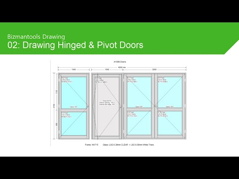 Drawing Hinged and Pivot Doors - YouTube