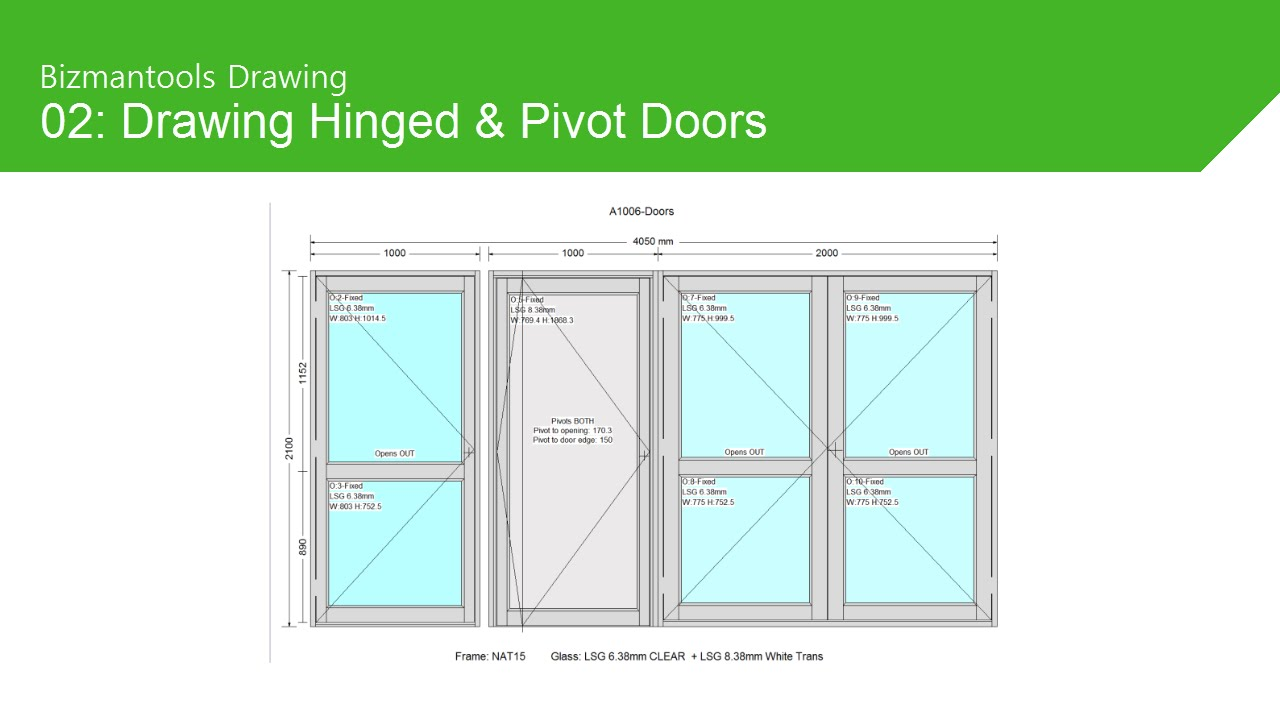 Drawing Hinged And Pivot Doors Youtube