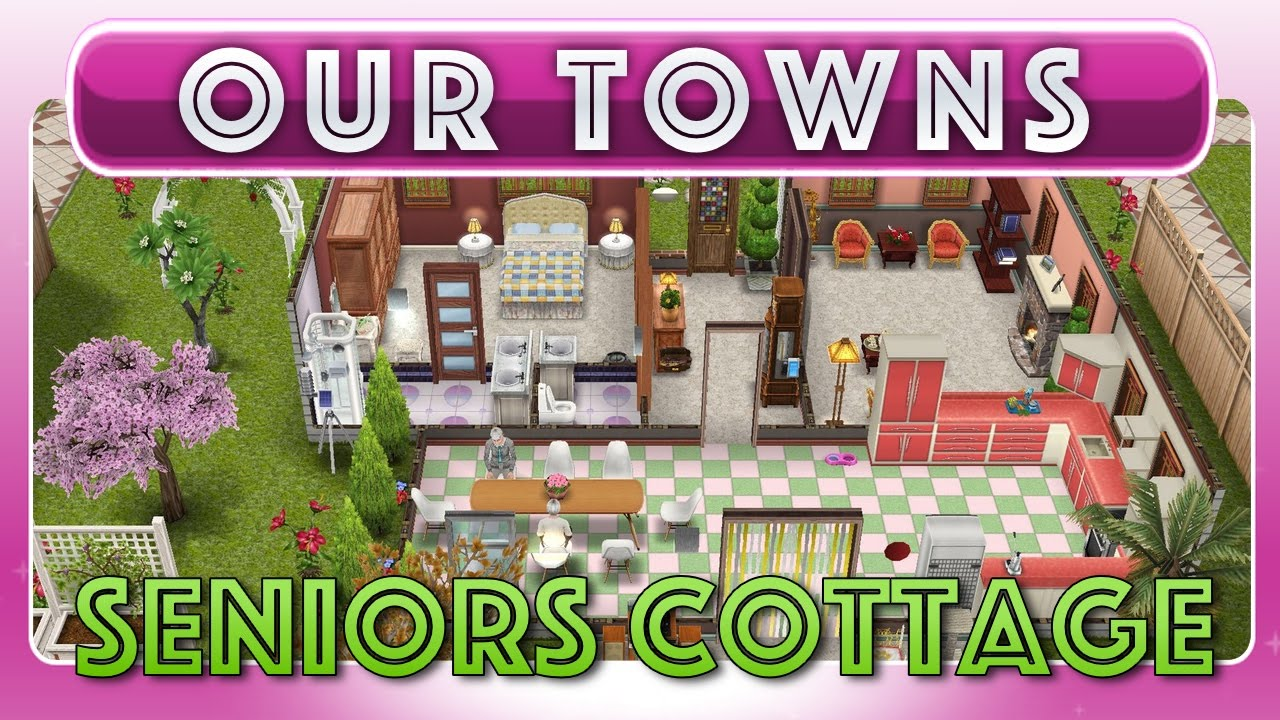 Sims FreePlay - Senior Grandmas Cottage (Original House Design ...
