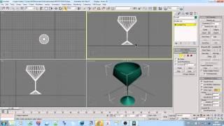 Как сделать бокал 3D max