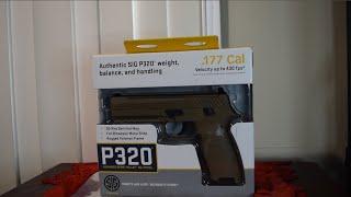 Sig Sauer P320 .177 Pellet BlowBack CO2 Pistol Unboxing