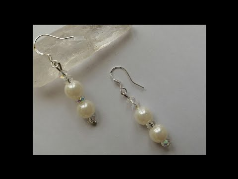How to make beaded handmade earrings quickly for beginners. DIY easy tutorial 2019