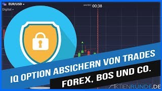 IQ Option absichern von Trades: Forex, BOs und Co.