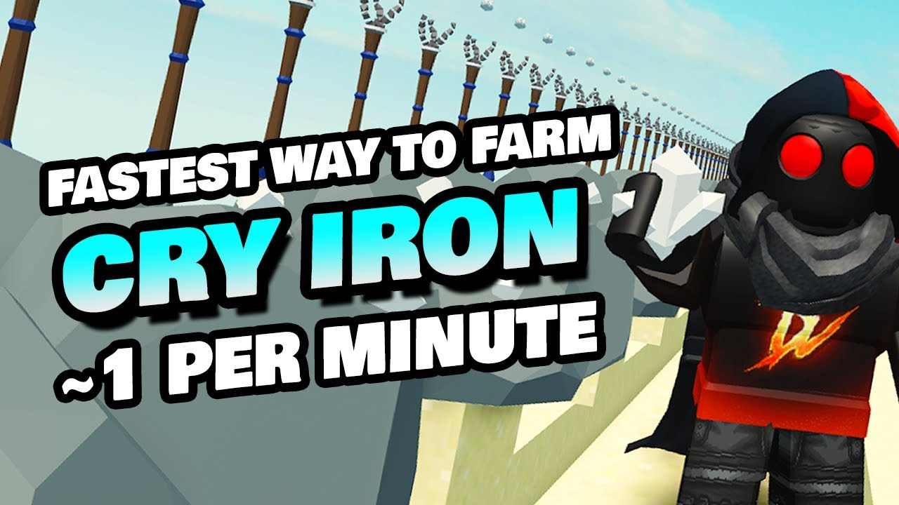 Fastest Way To Get Crystallized Iron 1 Cry Iron Per Minute New