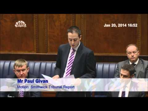 Paul Givan Leads DUP Assembly Debate on Smithwick Inquiry