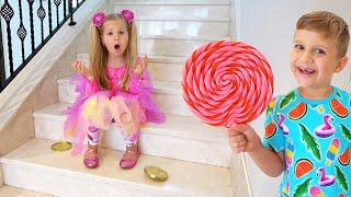 ديانا تقوم بأعمال جيدة للحصول على الحلوى