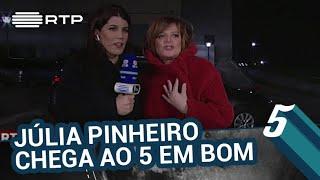 Júlia Pinheiro chega ao 5 em bom | 5 Para a Meia-Noite | RTP