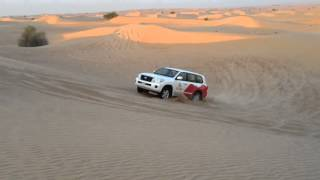 Safari in Dubai Desert - Car Stuck into Sand Dune - Part II