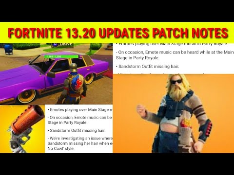 Fortnite 13.20 Update Patch Notes - Fortnite 2.76 Patch Notes - What's New In 13.20 Update