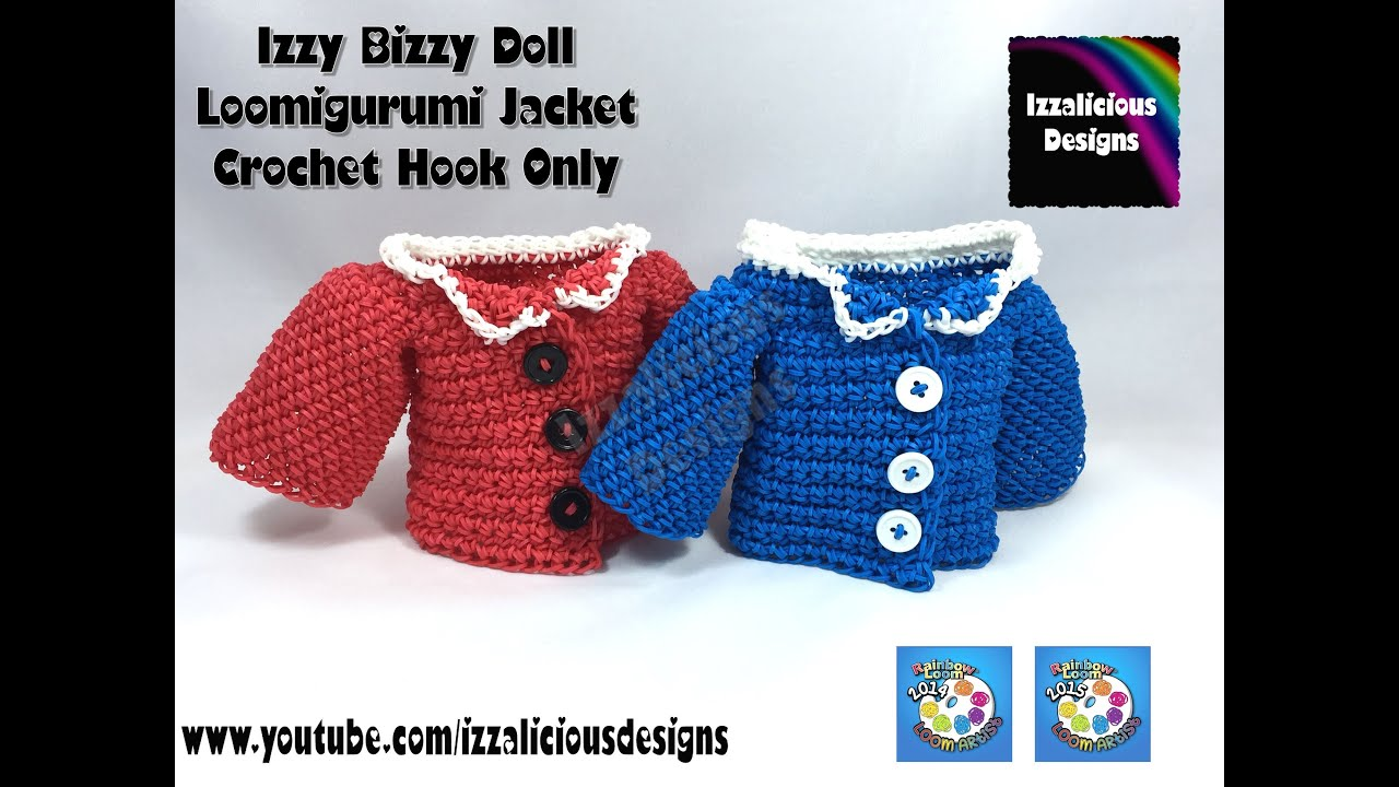 Amigurumi Jacket : Loomigurumi Izzy Bizzy Doll - Jacket - hook only ...