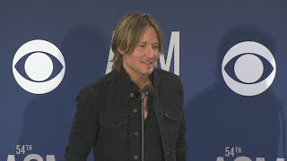 Keith Urban Backstage At The ACM Awards After Winning Entertainer Of The Year