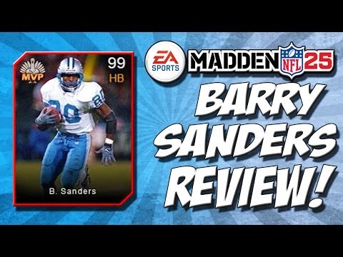 Madden 25 Ultimate Team - Barry Sanders 99 Overall Player Review! - NFL Highlights - MUT 25