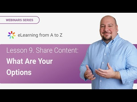 Lesson 9. Share Content: What Are Your Options