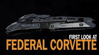 Elite: Dangerous. First look at Federal Corvette. Ships 1.5 Update