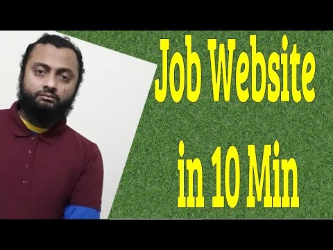 How To Make Job Website In 10 Mins. 2019
