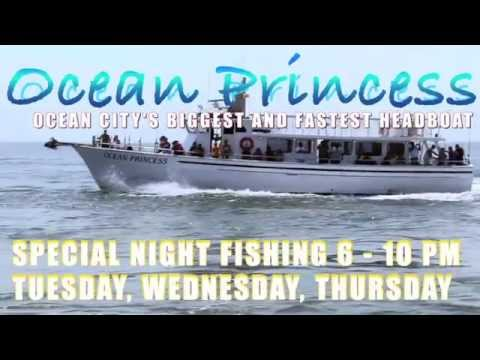 Oc ocean princess deep sea fishing ocean city md youtube for Ocean city deep sea fishing