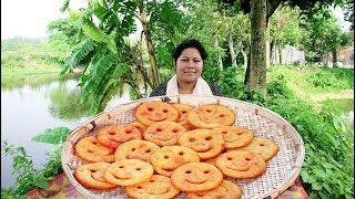 আলুর হাসি/আলুর পিঠা    Delicious homemade potato's smile for kids tiffin    Village Food