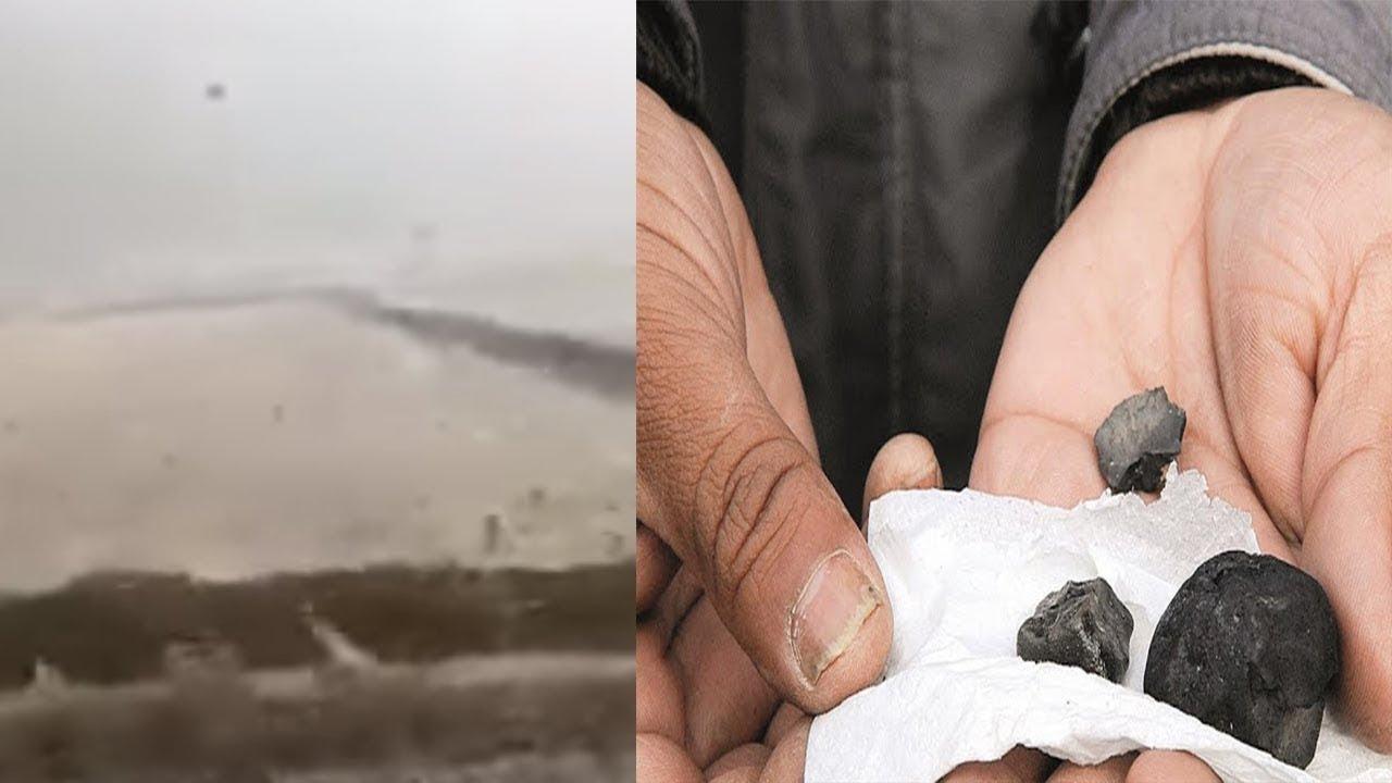 Lluvia de Piedras, video captado en Sinope en Turquía - Realidad o Fantasia