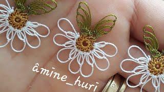 Papatyada yesil yaprak yapimi(hermoso flor)