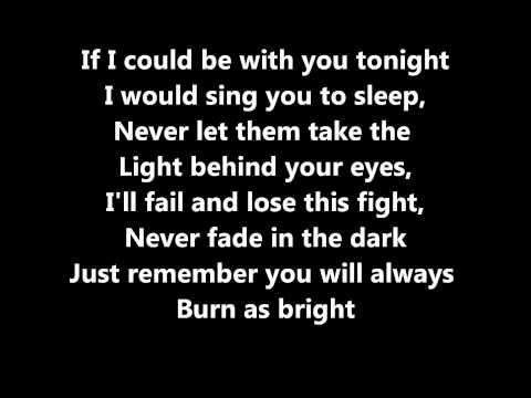 My Chemical Romance - The Light Behind Your Eyes Lyrics