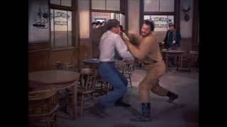 Carson City (1952) - Silent Jeff Kincaid Vs. Railroad Worker Fight
