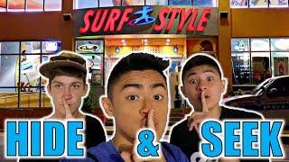 HIDE AND SEEK IN SURF SHOP!!