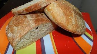 Хлеб без замеса теста! Чиабатта - итальянский хлеб. Рецепт Чиабатты