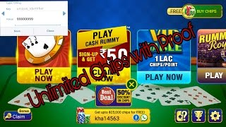 How to get Unlimited Chips in Octro Rummy with 100% Proof