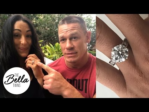 THE RING! John Cena reveals the size and meaning behind Nikki's engagement ring