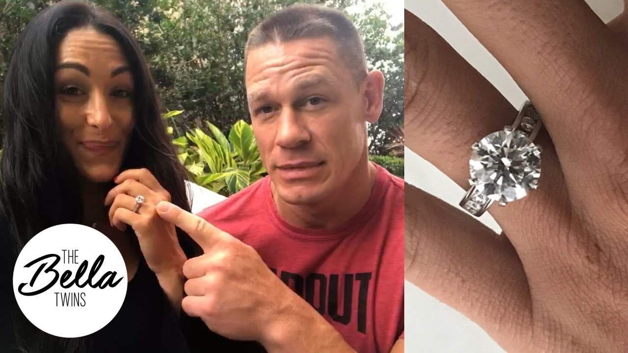 John Cena Reveals The Size And Meaning Behind Nikkis Engagement Ring Bella Twins