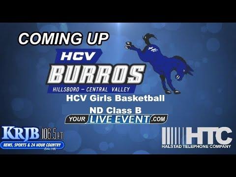 HCV vs Griggs County Central in ND Class B Region 2 Girls Basketball