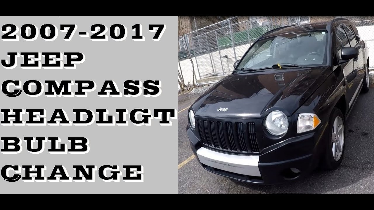 How To Change Headlight Bulb In Jeep Comp 2007 17