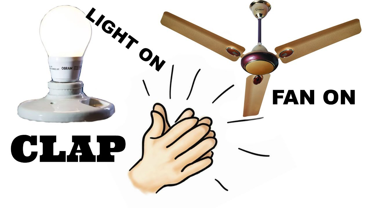 How to make a clap switch at home||Control your light,fan just using ...