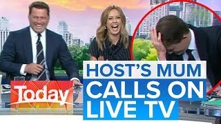 Host mortified when mum calls on live TV | Today Show Australia