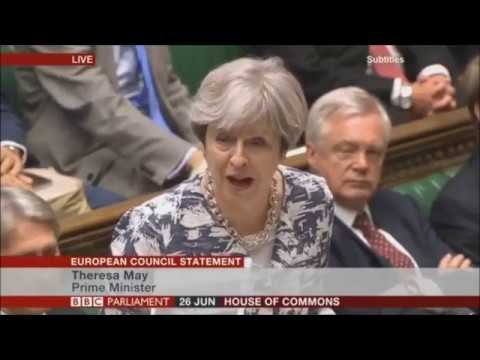 Theresa May European Council Questions in Parliament
