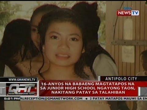 QRT: 16-anyos na babaeng magtatapos na sa junior high school ngayong taon, nakitang...