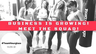 Building a business!! Hourglass Workout BTS #girlboss VLOG 10