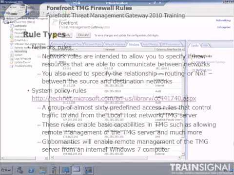 10 Forefront TMG Firewall Rules