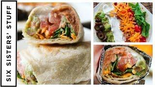 7 Layer Dip Bean Burritos    Easy Lunch AND Dinner Idea