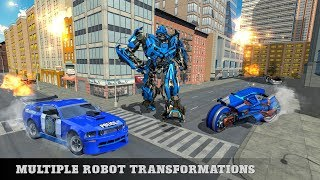 US Police Cop Moto Robot Transform Gangster Chase (By White Sand - 3D Games Studio) Gameplay HD