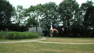 My First Epic Backflip On Grass Scary As F***